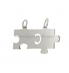 CIONDOLO PUZZLE DIVISIBILE MM 22X33 IN ARGENTO RODIATO TIT 925