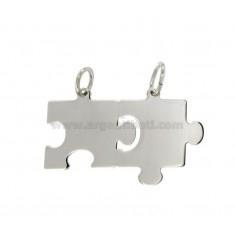 Colgantes PUZZLE divisible MM 22x33 plata del rodio TIT 925