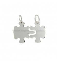 Pendants PUZZLE DIVISIBLE MM 20X28 SILVER RHODIUM TIT 925