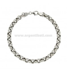 ROLO BRACELET 'MESH DIAMETER MM 6,5 THICKNESS MM 2,5 IN SILVER RHODIUM-PLATED TIT 925 ‰ CM 20