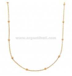 LACE CHAIN AND BALL 2,5 MM ALTERNATE IN COPPER SILVER TIT 925 ‰ 90 CM