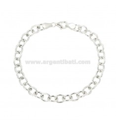 BRACELET CABLE 8X7 MM ROD 1.4 MM 20 CM IN SILVER TITLE 925 ‰