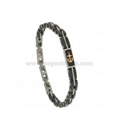 Armband aus Stahl und Keramik mit zweifarbigen STILL Verkupfertes