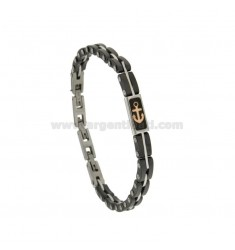 TWO.TONE STEEL BRACELET AND CERAMIC WITH COPPER PLATED ANCHOR