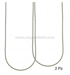 CADENA Funetta PZ 2 2.3 milímetros de acero 80 CM