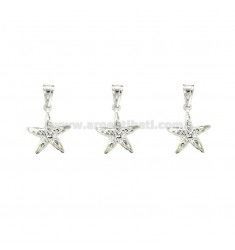 CHARM COUPLED STARFISH 18x15 mm PZ 3 SILVER TITLE 925 ‰
