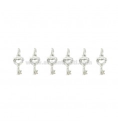 KEY CHARM COUPLED MM 15x8 PZ 6 SILVER TITLE 925 ‰