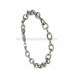 BRACELET CABLE MM 9x7 CANE 1.5 MM 20 CM IN RHODIUM SILVER TITLE 925 ‰