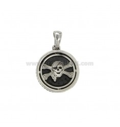 CHARM ROUND 17 MM WITH PIRATES SYMBOL SILVER BRUNITO TIT 925 ‰
