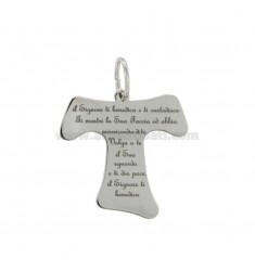 CHARM WITH BLESSING TAO MM 27X24 SILVER RHODIUM TIT 925