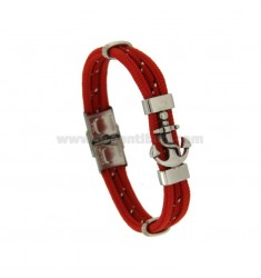 BRACELET WITH STAINLESS STEEL AND STEEL ROPE CM 21