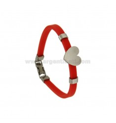BRACELET IN STAINLESS STEEL RED AND STAINLESS STEEL BRACELET