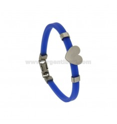 BLUE STAINLESS STEEL BRACELET AND STEEL CUORIC