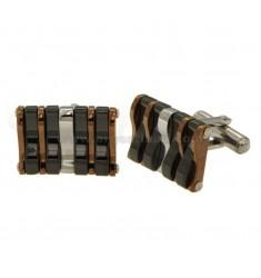 TWINS rechteckiger Stahl TRICOLORE