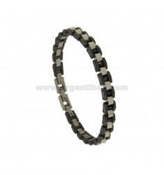 STAINLESS STEEL BRACELET AND BLACK CERAMIC