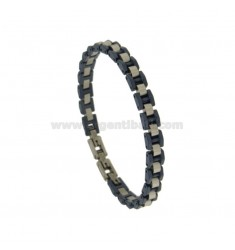 STAINLESS STEEL BRACELET AND BLUE CERAMIC
