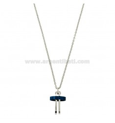 CROWN PENDANT WITH CHROME CM 45-50 BICOLOR STEEL