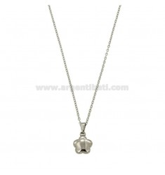 KETTE CABLE 45 CM MIT BLUME IN STEEL