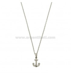 CM 45 STAINLESS STEEL NECKLACE WITH STAINLESS STEEL