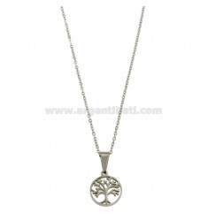 CM 45 FORZATINA NECKLACE WITH STEEL LIFE TREE