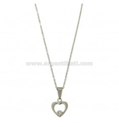 FORMULATED CM 45 NECKLACE WITH STAINLESS HEART