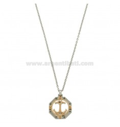 OTTAGONAL PENCIL WITH ANCHOR WITH CM 45-50 WHEEL STAINLESS STEEL CHAIN
