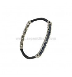 LEATHER BRACELET AND STAINLESS STEEL CERAMIC CM 21