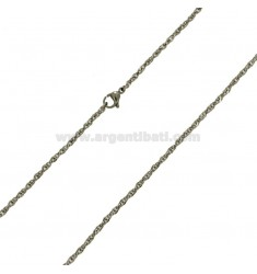SINGAPORE CHAIN ??2 CM 50 IN STEEL 925 ‰ PZ 2