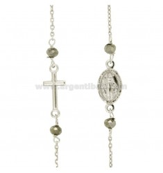 ROSARY JEWELRY WITH FORZATINA AND 4 STONES SILVER REDUCED TIT 925 CM 50-53