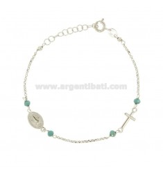 ROSARY BRACELET WITH ROLE AND SILVER STAINLESS STEEL TIT 925 CM 16-19
