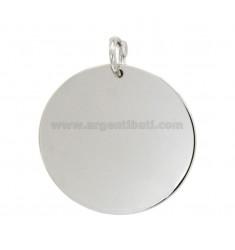 CHARM Rund Durchmesser 30 mm Stärke 11 Silber rhodiniert TIT 925