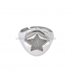 RING 13 MM STAINLESS STEEL WITH REDUCED SILVER 925 ‰ ADJUSTABLE MEASUREMENT BY MIGNOLO