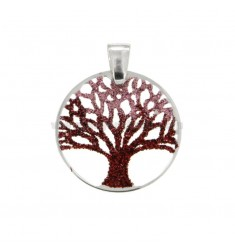 PENCIL LIFE TREE MM 25 LASTER MM 0.6 IN SILVER REDUCED TIT 925 ‰ AND GLITTER TONI ROSA
