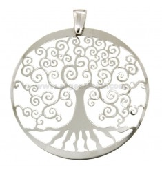 PENDANT TREE OF LIFE RIBBON MM 46 IN SILVER REDUCED TIT 925 ‰