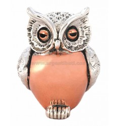 LITTLE OWL SMOOTH BELLY 4X3 CM COPPER