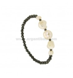 ELASTIC BRACELET WITH FASHION EMATITE AND CENTRAL BARON CUFFS