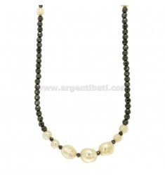 NECKLACE WITH FASHION EMPTY AND ALTERNATE BARROCKS CM 80