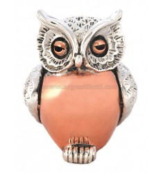 OWL MEDIUM SMOOTH BAUCH 5.5x4 cm Kupfer