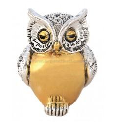 OWL BIG BELLY SMOOTH 8X6 CM GOLD
