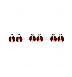 LOBO EARRINGS LADYBIRD 3 COUPLES IN SILVER TIT 925 ‰ AND ENAMEL