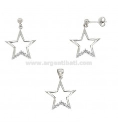 EARRINGS EARRINGS AND PINK STORY WITH STARS IN SILVER REDUCED TIT 925 ‰