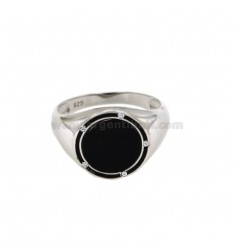 RING WITH ONICE MM 15 SILVER REDUCED TIT 925 ‰ AND ZIRCONI MEASURE 22