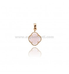 PINK PICCOLO IN STONE STYLISH COLOR ROSA 11 AND AG PLATED GOLD ROSE TIT 925