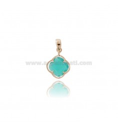 PINK PICCOLO IN STONE GREEN WATERPROOF 40 AND PLATED GOLD ROSE TIT 925