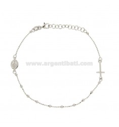 ROSARY BRACELET WITH CHAIN ??CHAIN ??IN SILVER REDUCED TIT 925 ‰ CM 18