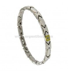 STAINLESS STEEL BRACELET WITH SMALL FLYING FLAGS 21
