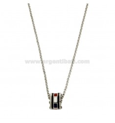 CHAINS ROLO 'CM 50 WITH DADO PENDANT IN STEEL AND SMALL