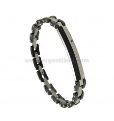 BICYCLE STAINLESS STEEL BRACELET AND CERAMIC WITH CENTRAL PLATE AND ZIRCONI CM 21