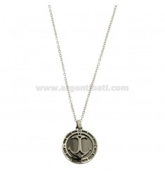 STAINLESS STEEL PENDANT WITH STAINLESS STEEL AND BOLT WITH CHROME CM 45-50 BICOLOR STAINLESS STEEL