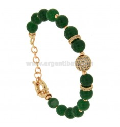 BRACELET WITH WHEELS GREEN MM 9 AND BRIDGE BRUSHES 18-18 CM